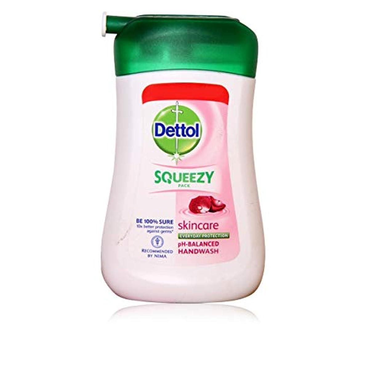 慰め穿孔する重くするDETTOL Squeezy Pack Skincare Liquid Hand WASH 100ML
