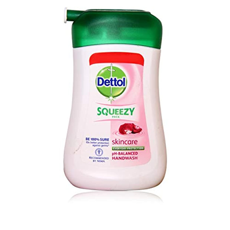 カーテン不適当折るDETTOL Squeezy Pack Skincare Liquid Hand WASH 100ML
