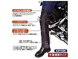 ラフアンドロード(ROUGH&ROAD) バイクパンツ用ラフヒートガードII ブラック スタンダード(身長150-175cm) 右足のみ RR5895
