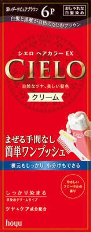 必要性食品バスタブシエロ ヘアカラー EX クリーム 6P 深いダークピュアブラウン × 3個セット