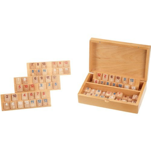 ラミィキューブ 木製 (Rummikub: Rummy Cassette Make of Wood Small) 3608 ボードゲーム