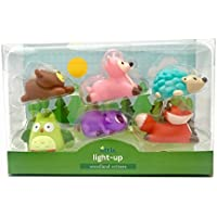 Rittle Woodland Critters Cute Floating Light-up Bath Toys (Set of 6) [並行輸入品]