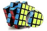 Colorfuldays スピードキューブ 立体パズル 立体キューブ ポップ防止立体キューブ スムーズ回転キューブ 競技用パズルキューブ 黒素体 (4×4×4)
