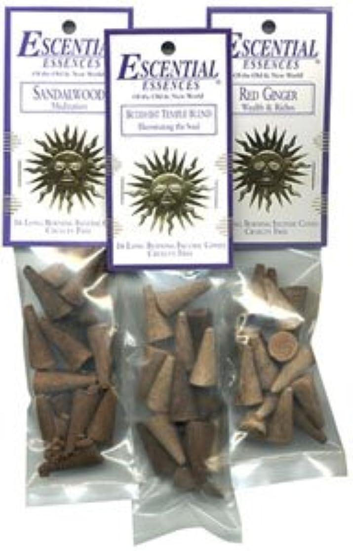 記念碑転用照らすDragon 's Blood – Escential Essences Cone Incense – 16円錐パッケージ