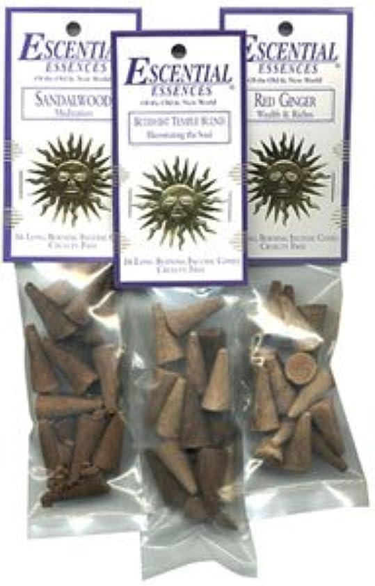 主流放射能フレキシブルDragon 's Blood – Escential Essences Cone Incense – 16円錐パッケージ