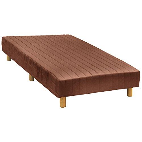 タンスのゲン 一体型 脚付きマットレスベッド シングル 脚長 15cm ボンネルコイル ノンホルムアルデヒド ブラウン AM 000080 13