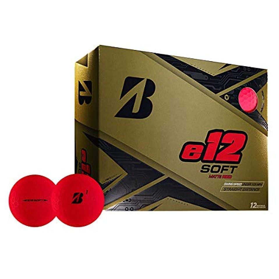 言い訳アナニバー国ブリヂストンゴルフ e12 SOFT サーリンカバー 3ピース ゴルフボール USA直輸入品 レッド