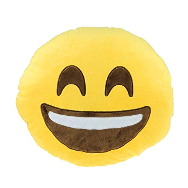 Tonsee 抱き枕 可愛い装飾枕 ソファ腰投げクッション枕 ポリプロピレン 絵文字 笑顔