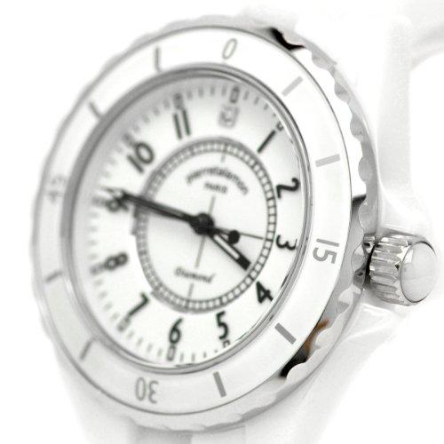 [ピエールタラモン]pierretalamon 腕時計 メンズ ウォッチ ジュエリーコレクション セラミック ホワイト PT-1600H-WH メンズ