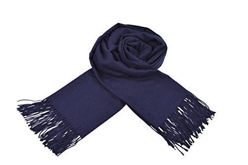(榮譽方式)榮譽時尚女裝優雅羊絨平原條紋圍巾所有18色