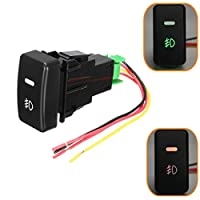 OKIl Push Button Fog Light Switch Button For HONDA CIVIC ACCORD CRV Aftermarket Replacement