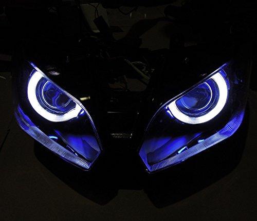 川崎用 エンジェルアイHID ヘッドライト プロジェクター H1 適応モデル NINJA 250 2013 / EX250L ブルー