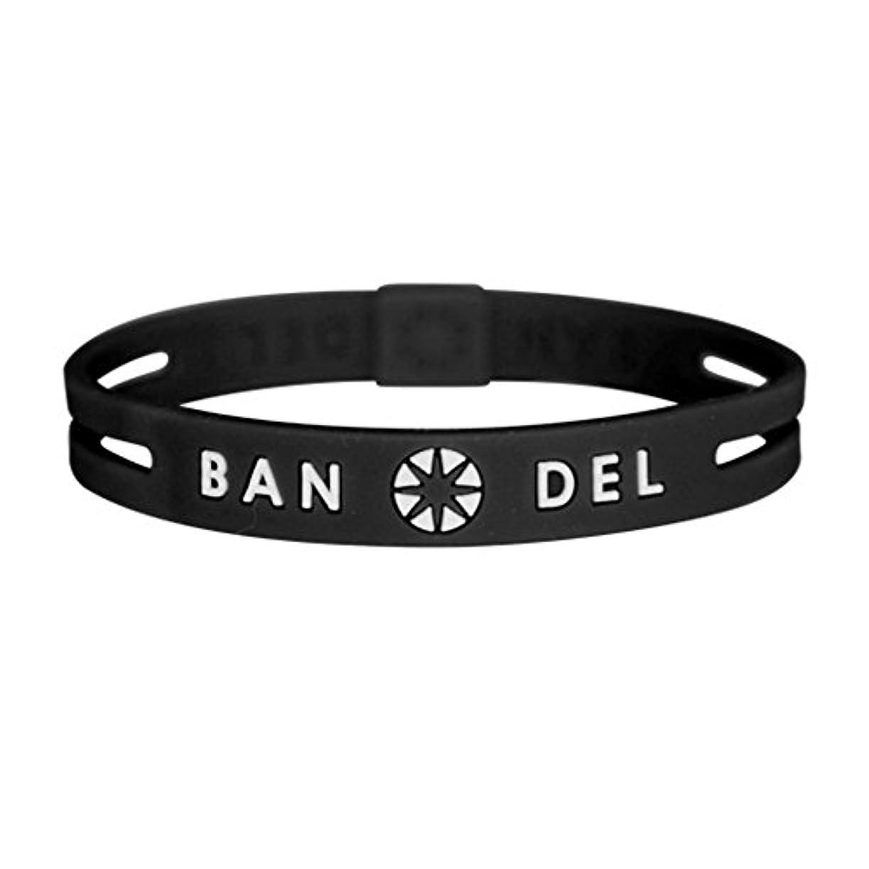 止まる影のあるスキーム[バンデル?BANDEL]ストリング ブレスレット 正規品 (ブラック×ホワイト)Mサイズ