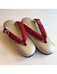 さくら桟敷 オリジナル真綿草履 赤