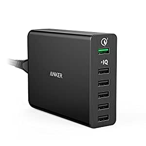 【Quick Charge 3.0】 Anker PowerPort+ 6 (60W 6ポートUSB急速充電器) Galaxy / Nexus / iPhone / iPad / Android各種対応 A2063511
