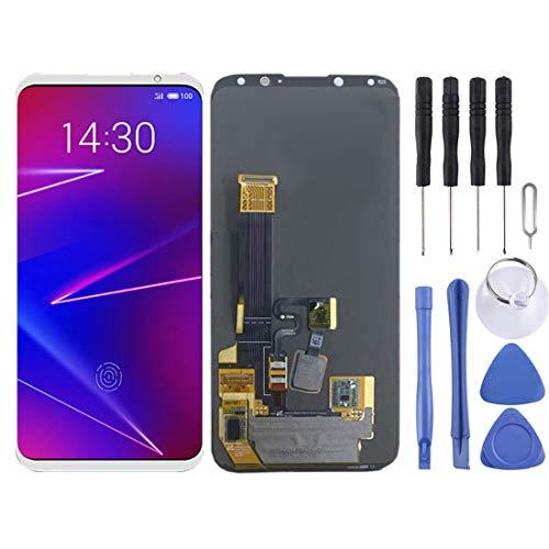 携帯電話の液晶画面 LCD画面とデジタイザ完全組立用Meizuの美蘭16X / M872H / M872Q (Color : 白)