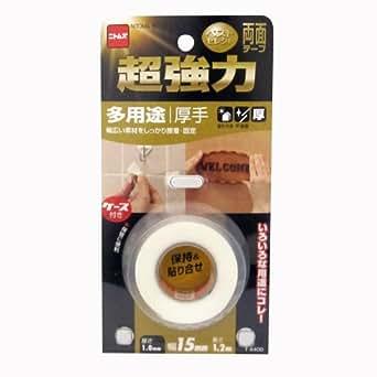 ニトムズ 超強力両面テープ 多用途(厚手)BS 15mm×1.2m T4400