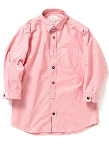 (ビームス) BEAMS/トリコロール パラシュートボタン 7分袖 シャツ RED S 11114803803