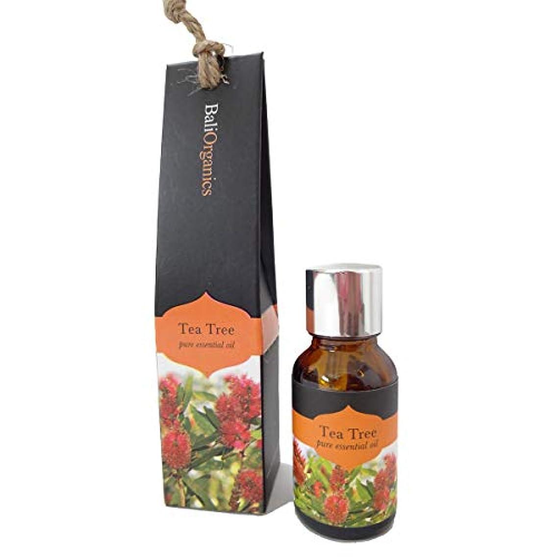 タイプライター刺激する学者Bali Organics バリオーガニック アロマ エッセンシャルオイル Tea Tree ティーツリー 15ml