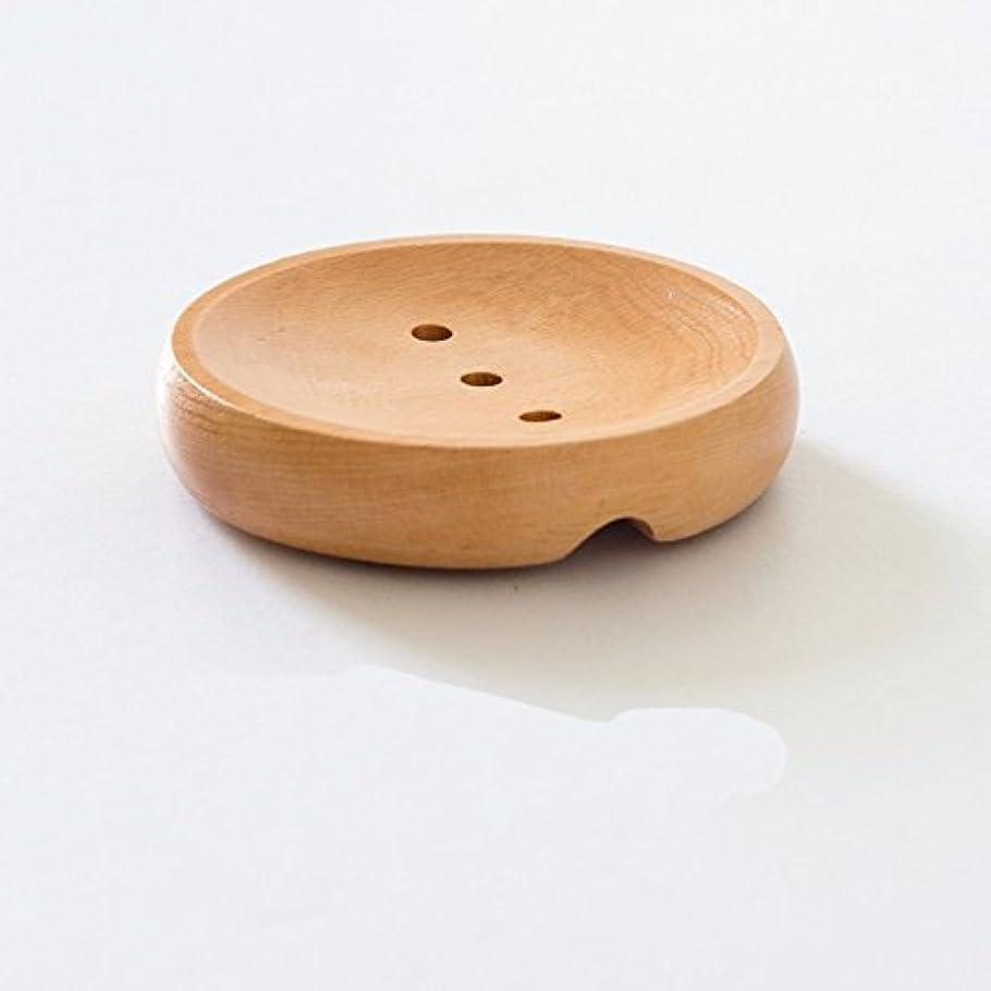 線形陸軍に話すクリエイティブ木製ソープトレイソープボックスHand Soapラックソリッド木製トイレトイレ排水水soap-d。