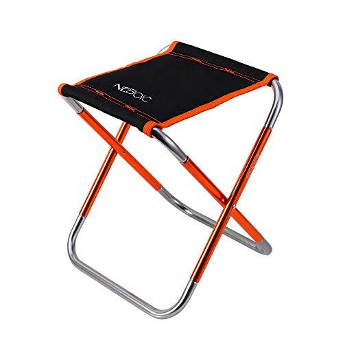 アウトドアチェア キャンプ 折りたたみ椅子 イス 軽量 コンパクト おりたたみいす【耐荷重100kg】折り畳み椅子 アルミ合金ローチェア 持ち運び 超軽量収納袋付き (橙)