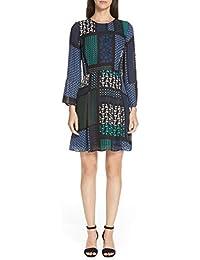 ((デレク ラム) DEREK LAM 10 CROSBY Scarf Print Fit & Flare Dress スカーフプリントフィット&フレアドレス (並行輸入品)