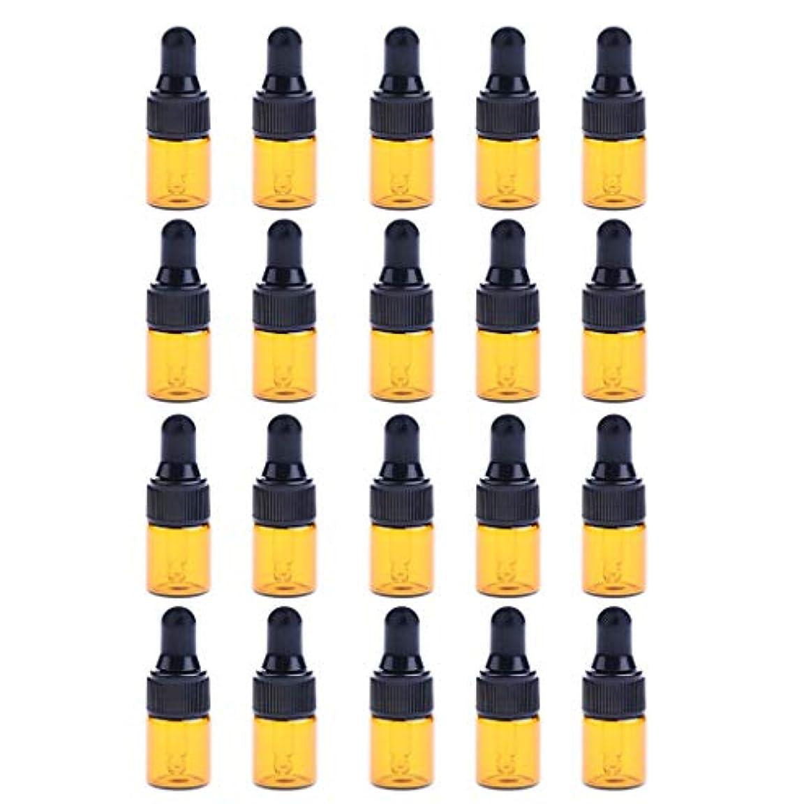 切る人生を作る恒久的20個 2ml ドロッパーボトル エッセンシャルオイル ミニサイズ 詰め替え可 ガラス スポイトボトル