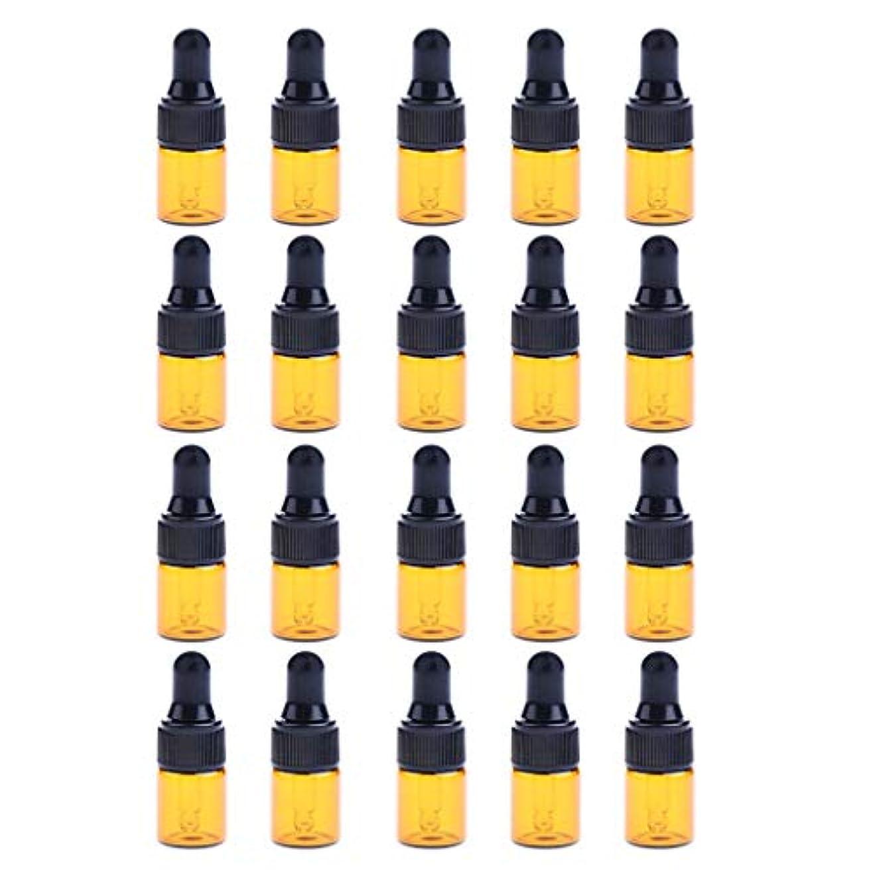 支配するヶ月目ゴールデン約20個 ドロッパーボトル エッセンシャルオイル ミニサイズ 詰め替え可 ガラス スポイトボトル