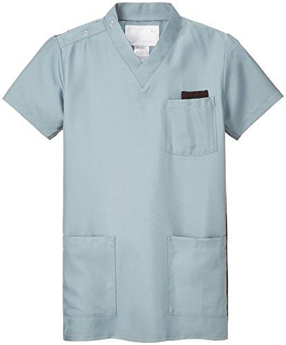 ナガイレーベン スクラブ(男女兼用) 医療白衣 半袖 ミストグリーン SS RT-5062