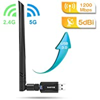 WiFi 無線LAN子機  1200Mbps 802.11ac/11n/11g/11b と互換できる