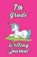 7th Grade Writing Journal: 6x9 Unlined 120 pages writing Notebook of Grades for Boys and girls