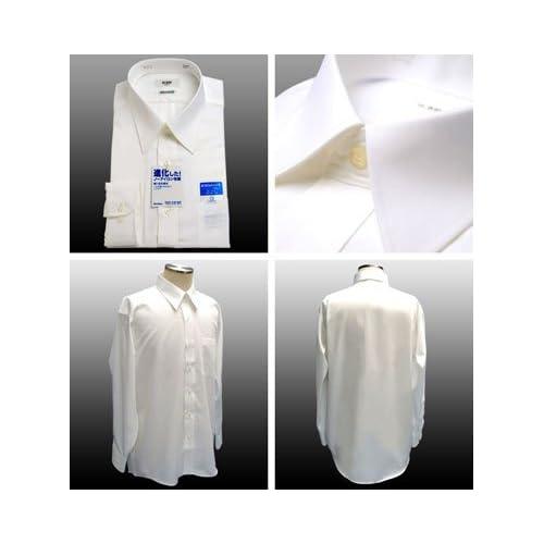 綿100%形態安定「日清紡シャツ」白 39-78