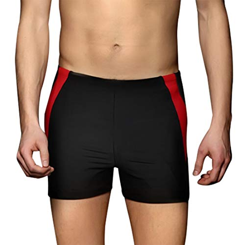 PHINIKISS Mens Jammers Quick-Dry Swimsuit Swimming Suit Men Boys Swimming Pants Black XXXXL