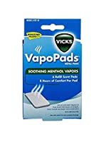 海外直送品Vicks Vicks Waterless Vaporizer Scent Pads, 1 each (Pack of 6)