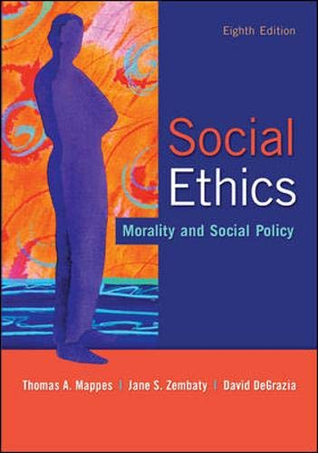 Download Social Ethics: Morality and Social Policy 0073535885