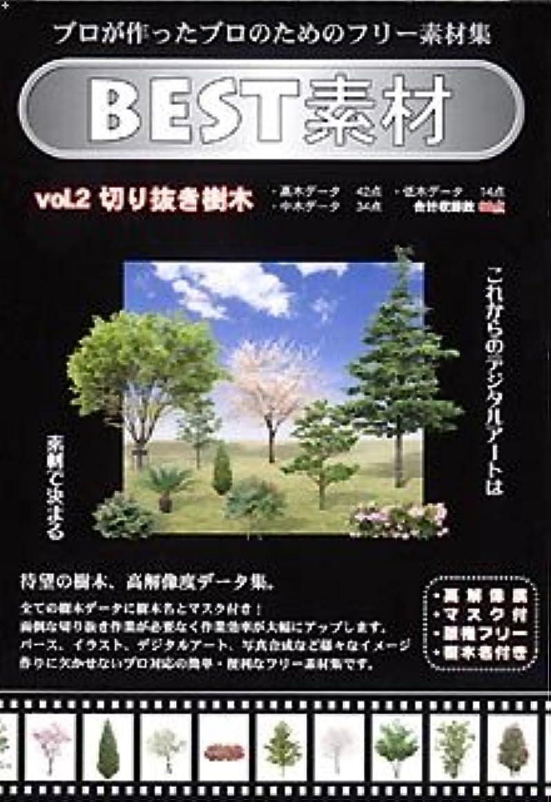 知る繊維パトロールBEST素材 Vol.2 切り抜き樹木