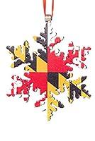 メリーランド州大学パルス フラッグ 雪の結晶 クリスマスオーナメント