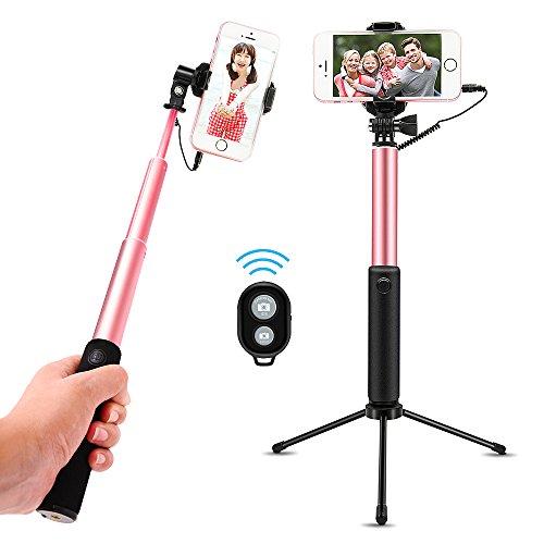 Bodyguard 自撮り棒 スマホ セルカ棒 Bluetoothリモコン ライトニング接続 兼用 三脚付 360度回転 iPhone/Android対応