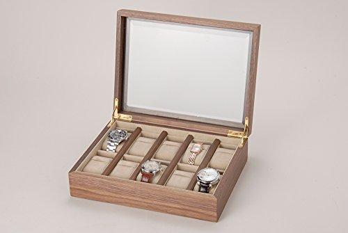 W010-1 時計収納ケース ウォルナット 10本用
