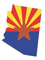 Arizona State Map Flagビニールステッカーデカール