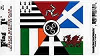 """Celtic Nations Flag - 3 ス"""" x 5"""" - High Gloss UV Coated Laminate Water Proof Sticker DECAL"""