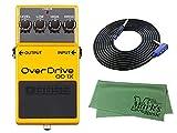 BOSS コンパクトエフェクター Overdrive OD-1X + 3m ギターケーブル VOX VGS-30+クロス セット