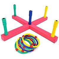 PeleusTech リングトスゲーム 子供の練習 早期教育玩具セット ヤードゲーム 子供用