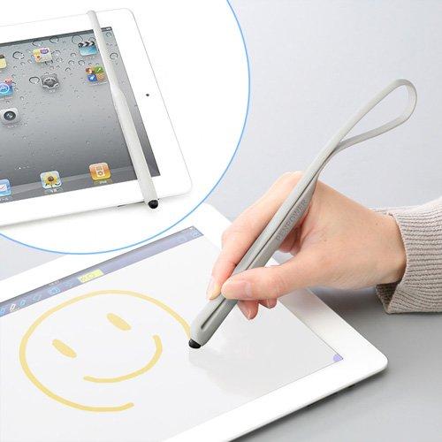 「iPad 2」に固定できるゴムバンド付きタッチペン(200-PEN007)