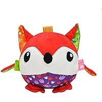Edtoy Red Fox Baby Plush InteractiveボールクリエイティブインテリジェンスRattleおもちゃ