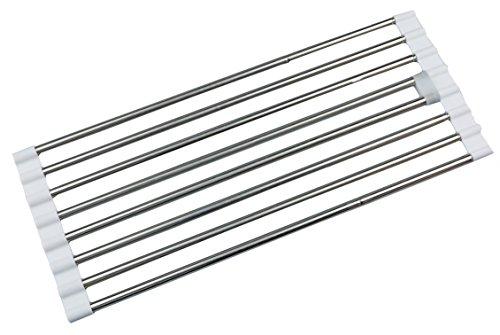 パール金属 日本製 折りたたみ 水切り ラック パイプ棚 スライド式 ステンレス デュアリスH-5652