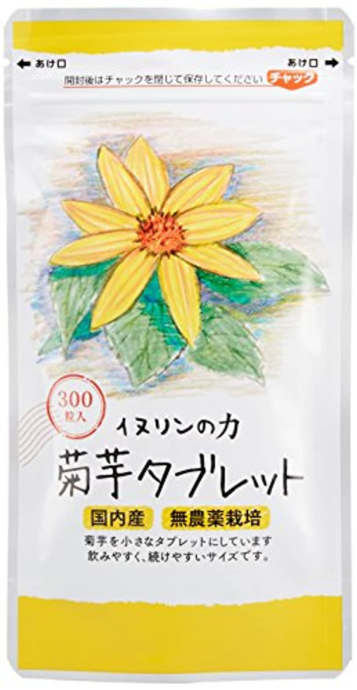 遵守するサスティーン寛大な菊芋タブレット 250mg×300粒 お徳用3個セット 内容量:225g ★3袋で生菊芋=1980g分です!