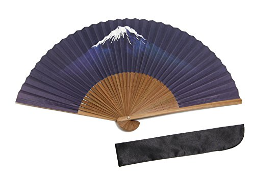 ≪扇子≫ 富士山 紙扇子 扇子袋付き 箱入り