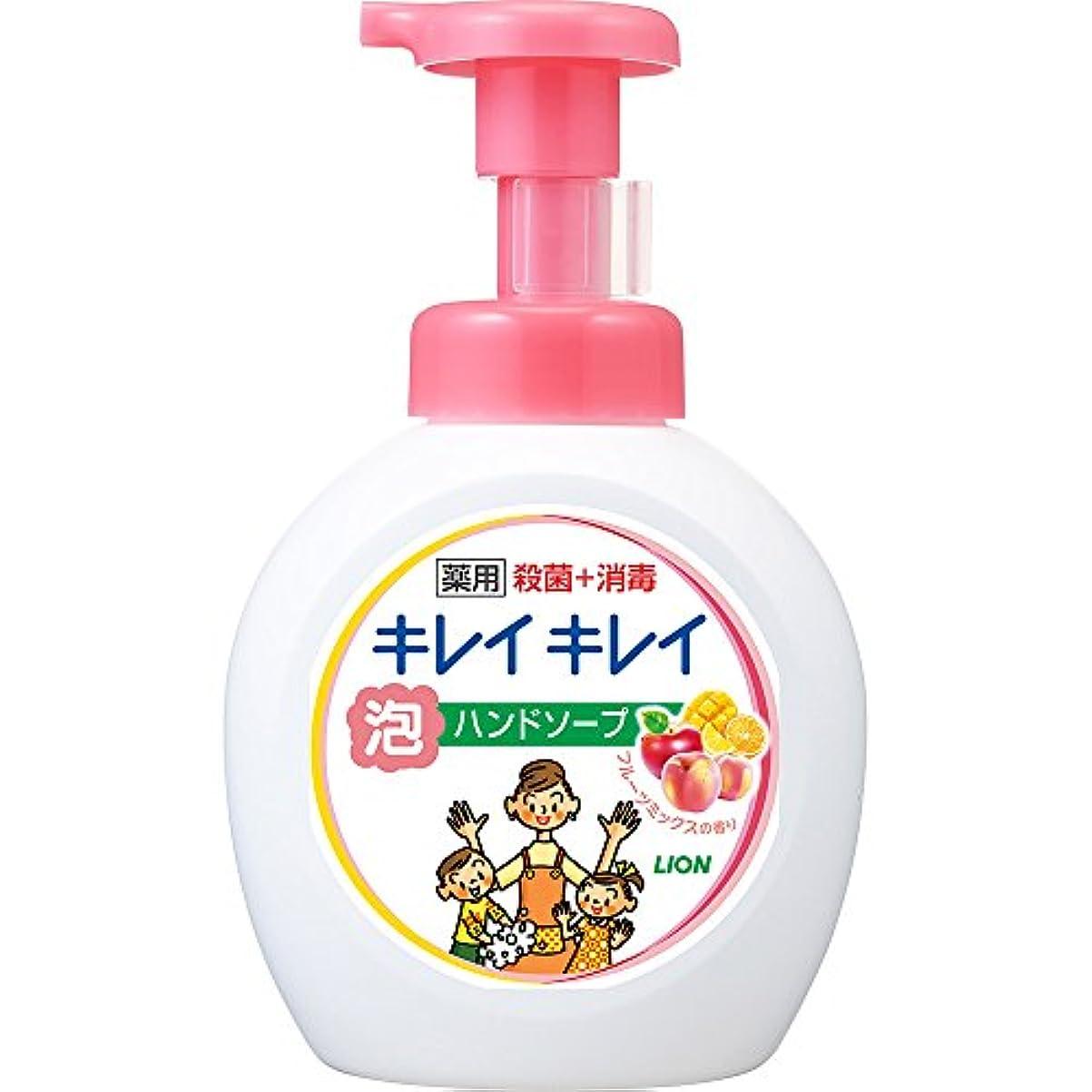 ホール承知しました警報キレイキレイ 薬用 泡ハンドソープ フルーツミックスの香り 本体ポンプ 大型サイズ 500ml(医薬部外品)