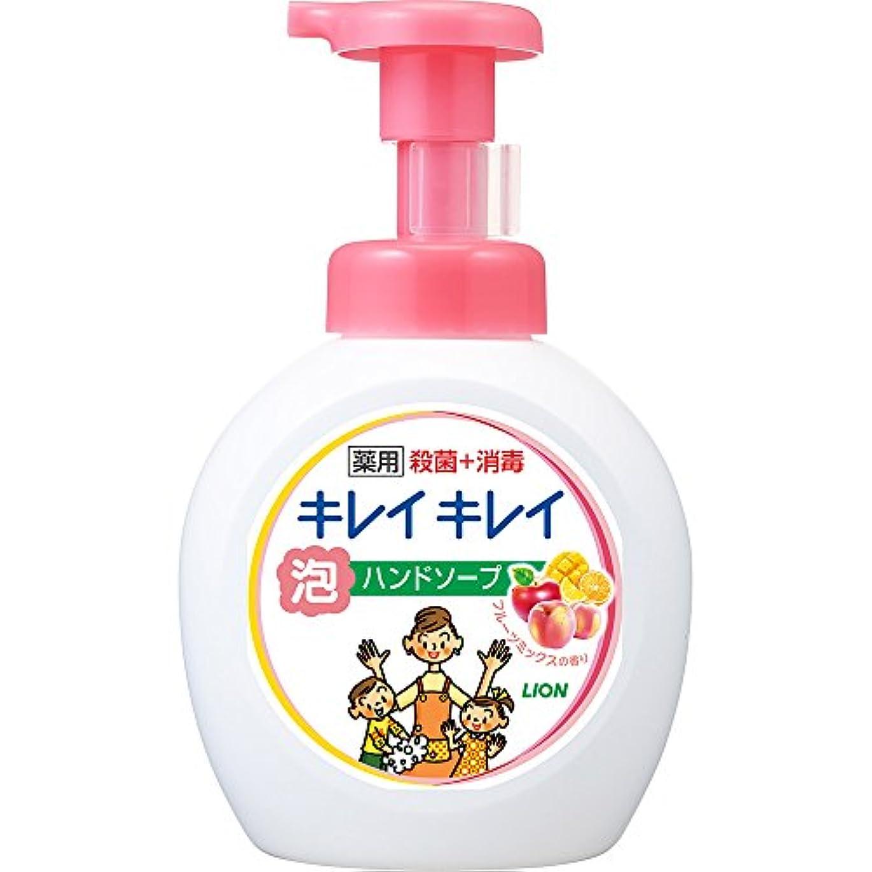 フットボールヤング横たわるキレイキレイ 薬用 泡ハンドソープ フルーツミックスの香り 本体ポンプ 大型サイズ 500ml(医薬部外品)
